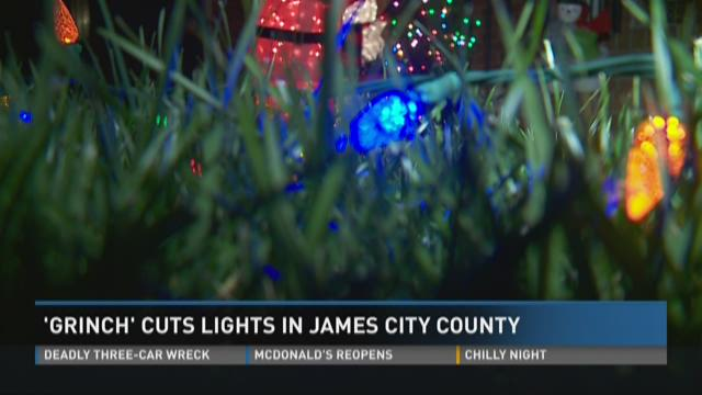 Grinch Christmas Lights.Christmas Lights Vandalized In James City County