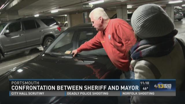 Confrontation between Portsmouth Sheriff and Mayor