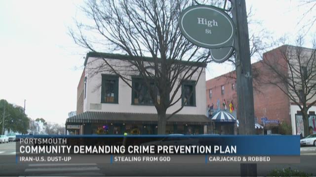 Portsmouth community demands crime prevention plan