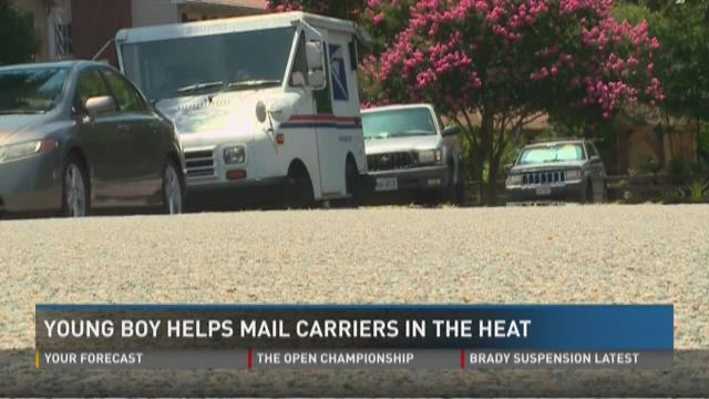 Newport News boy leaves Gatorade, water for mailman during heatwave