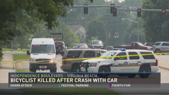 A bicyclist was killed in Virginia Beach Thursday afternoon.