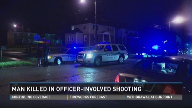 The scene of an officer-involved shooting in Newport