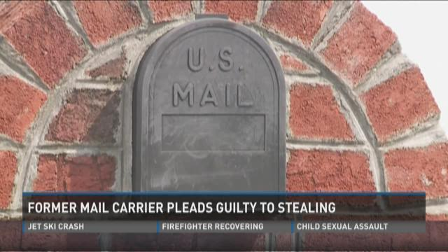 Former mail carrier pleads guilty to stealing