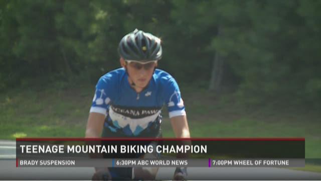 Teenage mountain biking champion