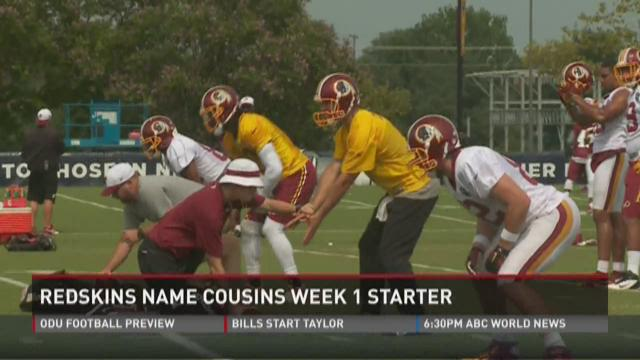 Cousins named Redskins starter