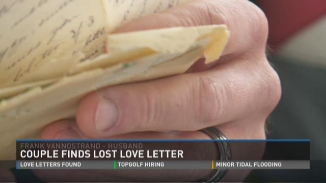 Love letter from 1957 found