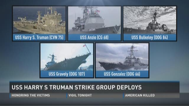 These are the sailors who will be manning the rails as The USS Harry S. #Truman deploys on Monday morning